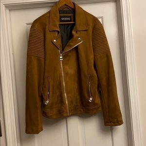 GUESS Suede Jacket tobacco color size Medium